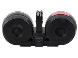 Beta C-Mag Magazine System HK G3, HK91, CETME 308 Winchester 100-Round Drum Polymer Black with Cl...