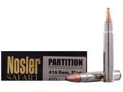 Nosler Safari Ammunition 416 Remington Magnum 400 Grain Partition Box of 20