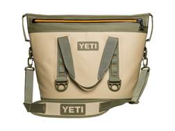 YETI Coolers Hopper TWO 30 Soft-Sided Cooler Dryhide Shell Tan and Green