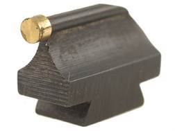 """Williams Front Sight .406"""" Height .250"""" Width Steel Blue 3/32"""" Gold Bead"""