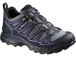 "Salomon X Ultra Prime CS 4"" Waterproof Hiking Shoes Synthetic Pearl Gray/Deep Blue/Rain Purple Wo..."