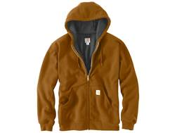 Carhartt Men's Rain Defender Rutland Thermal-Lined Zip-Front Hooded Sweatshirt Cotton/Polyester
