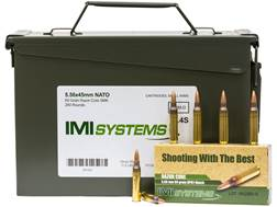 IMI Ammunition 5.56x45mm 69 Grain Razor Core (Sierra MatchKing Hollow Point) Ammo Can of 240 (12 ...