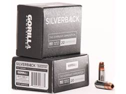 Gorilla Silverback Self Defense Ammunition 9mm Luger Subsonic 135 Grain Hollow Point Copper-Lead ...