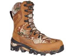 """Rocky Claw 10"""" Waterproof 400 Gram Insulated Hunting Boots Realtree Xtra/Brown Leather/Nylon Men's"""
