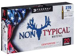 Federal Non-Typical Ammunition 270 Winchester 150 Grain Droptine Soft Point Box of 20