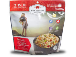 Wise Food Outdoor Teriyaki Chicken & Rice Freeze Dried Food Pack of 6