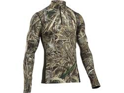 Under Armour Men's UA ColdGear Infrared Scent Control Tevo 1/4 Zip Base Layer Shirt Long Sleeve P...