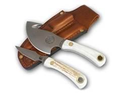 Knives of Alaska Light Hunter Combination Fixed Blade Hunting Knife Set with Leather Sheath