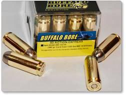Buffalo Bore Ammunition 50 Action Express 380 Grain Hard Cast Flat Nose Box of 20