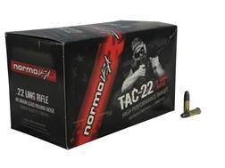 Norma USA TAC-22 Ammunition 22 Long Rifle Subsonic 40 Grain Lead Round Nose Box of 500 (10 Boxes ...