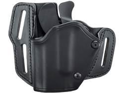BLACKHAWK! GripBreak Belt Holster Left Hand S&W M&P 9mm, 40 S&W, 45 ACP Leather Black