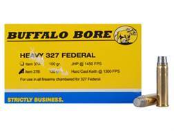Buffalo Bore Ammunition Outdoorsman 327 Federal Magnum 130 Grain Hard Cast Lead Semi-Wadcutter Bo...