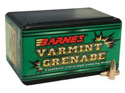 Barnes Varmint Grenade Bullets 22 Caliber (224 Diameter) 36 Grain Hollow Point Flat Base Lead-Fre...