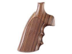 Hogue Fancy Hardwood Conversion Grips with Finger Grooves S&W N-Frame Round to Square Butt Checkered