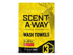 Hunter's Specialties Scent-A-Way Scent Elimination Wash Towels/Wipes Pack of 12