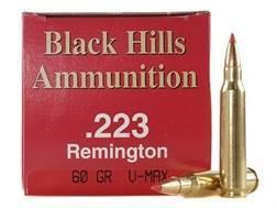 Black Hills Ammunition 223 Remington 60 Grain Hornady V-Max Box of 50