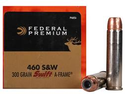 Federal Premium Vital-Shok Ammunition 460 S&W Magnum 300 Grain Swift A-Frame Jacketed Hollow Poin...