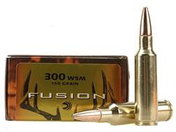 Federal Fusion Ammunition 300 Winchester Short Magnum (WSM) 150 Grain Spitzer Boat Tail Box of 20