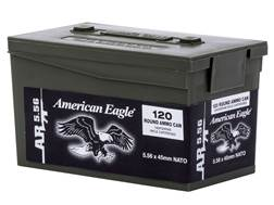 Federal American Eagle AR Ammunition 5.56x45mm NATO 62 Grain XM855 SS109 Penetrator Full Metal Ja...