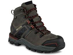 "Irish Setter Crosby 6"" Waterproof Non-Metallic Safety Toe Work Boots Leather/Nylon Gray Men's"
