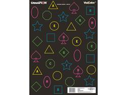 "Champion VisiColor Training Reflex Targets 18"" x 12"" Paper Pack of 12"