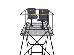 X-Stands The Kingpin Ground Blind Tower Kit Steel Black