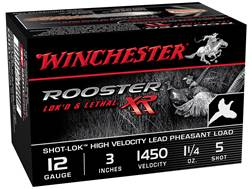 "Winchester Rooster XR Pheasant Ammunition 12 Gauge 3"" 1-1/4 oz #5 Shot-Lok Copper Plated Shot"
