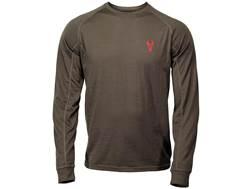 Badlands Men's Mutton Lightweight Base Layer Shirt Long Sleeve Merino Wool Stone