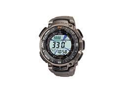 Casio Pathfinder Triple Sensor Solar Watch Titanium Band