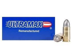 Ultramax Remanufactured Ammunition 9mm Luger 125 Grain Lead Round Nose Box of 50