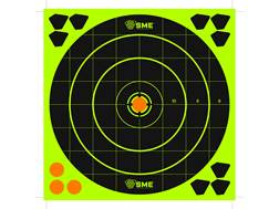 "SME Splatter Target 8"" Self-Adhesive Bullseye Package of 6 with 36 Pasters"