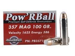 Glaser Pow'RBall Ammunition 357 Magnum 100 Grain Box of 20