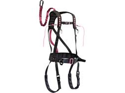 Muddy Women's The Safeguard Treestand Safety Harness Nylon Black and Pink
