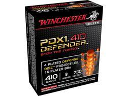 "Winchester PDX1 Defender Ammunition 410 Bore 3"" 4 Disks over 1/3 oz BB Shot"