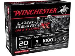 """Winchester Long Beard XR Turkey Ammunition 20 Gauge 3"""" 1-1/4 oz #6 Copper Plated Shot"""