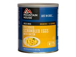 Mountain House Scrambled Eggs with Bacon Freeze Dried Food #10 Can