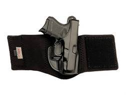 Galco Ankle Glove Holster Right Hand Glock 19, 23, 32, 36, 38 Leather with Neoprene Leg Band Black