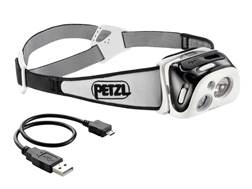 Petzl Reactik Reactive Lighting Headlamp LED with Rechargeable Li-Ion Battery Polymer Black