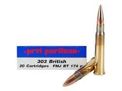 Prvi Partizan Ammunition 303 British 174 Grain Full Metal Jacket Boat Tail Box of 20