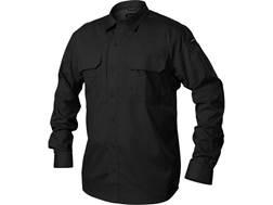 BLACKHAWK! Men's Pursuit Button-Up Shirt Long Sleeve Poly/Cotton Ripstop Black Large