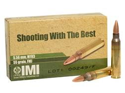 IMI Ammunition 5.56x45mm 55 Grain M193 Full Metal Jacket Boat Tail Case of 2400 (80 boxes of 30)