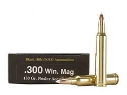 Black Hills Gold Ammunition 300 Winchester Magnum 180 Grain Nosler AccuBond Box of 20