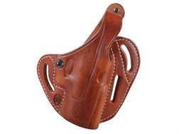 El Paso Saddlery Dual Duty 3 Slot Outside the Waistband Holster Right Hand Glock 19, 23, 32 Leath...