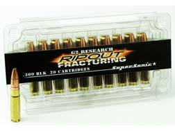 G2 Research RIP-OUT Ammunition 300 AAC Blackout 110 Grain Fracturing Solid Copper Lead-Free Box o...
