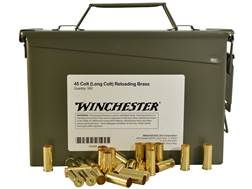 Winchester Reloading Brass 45 Colt (Long Colt) Ammo Can of 500 (Bulk Packaged)