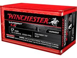 Winchester Varmint Ammunition 17 Hornady Magnum Rimfire (HMR) 15.5 Grain Hornady NTX Lead-Free Bo...