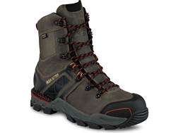 "Irish Setter Crosby 8"" Waterproof Non-Metallic Safety Toe Work Boots Leather/Nylon Gray Men's"