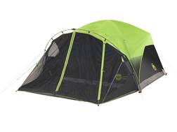 "Coleman Carlsbad 6 Man Dome Tent 68"" x 120"" x 108"" Polyester Black and Green"