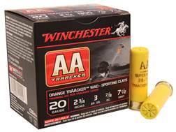 "Winchester AA TrAAcker Ammunition 20 Gauge 2-3/4"" 7/8 oz #7-1/2 Shot Orange Wad"